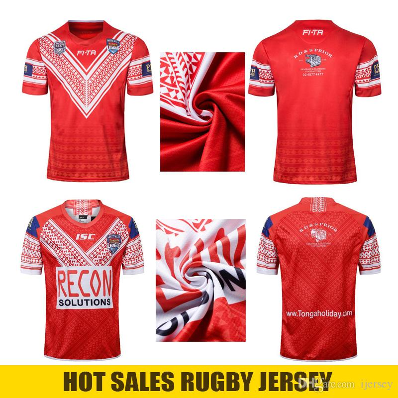 reputable site c4d04 cd14b 2018 2019 Tonga rugby NRL National Team League Rugby jersey 2019 Rugby  World Cup Tonga RWC19 Alternate Replica Shirt