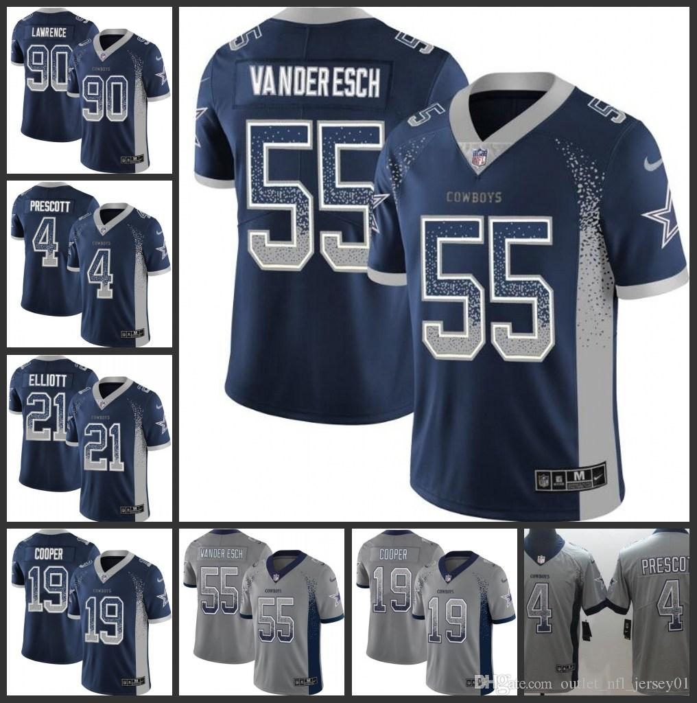 the latest 674ba ae741 Dallas Cowboys Men Jersey #4 Dak Prescott 55 Leighton Vander Esch 19 Amari  Cooper Women Youth Drift Fashion Color Rush Limited Jerseys