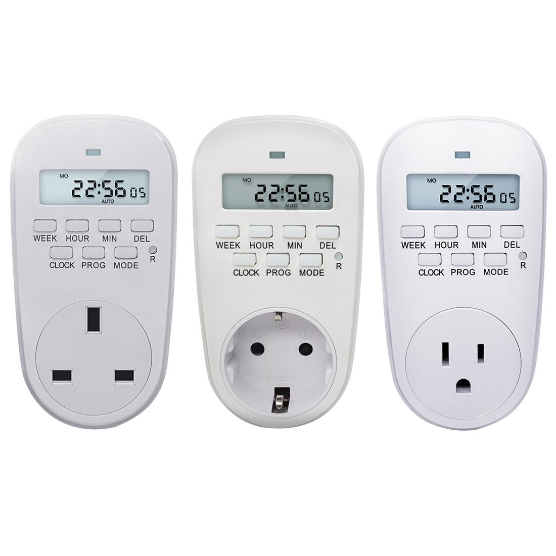 230 V Ayarlanabilir Ayarlanabilir Programlanabilir Ayarı Saat / Açık / Kapalı Zaman Dijital Zamanlayıcı Anahtarı Enerji Tasarrufu Akıllı Priz AB / ABD / İNGILTERE Tak