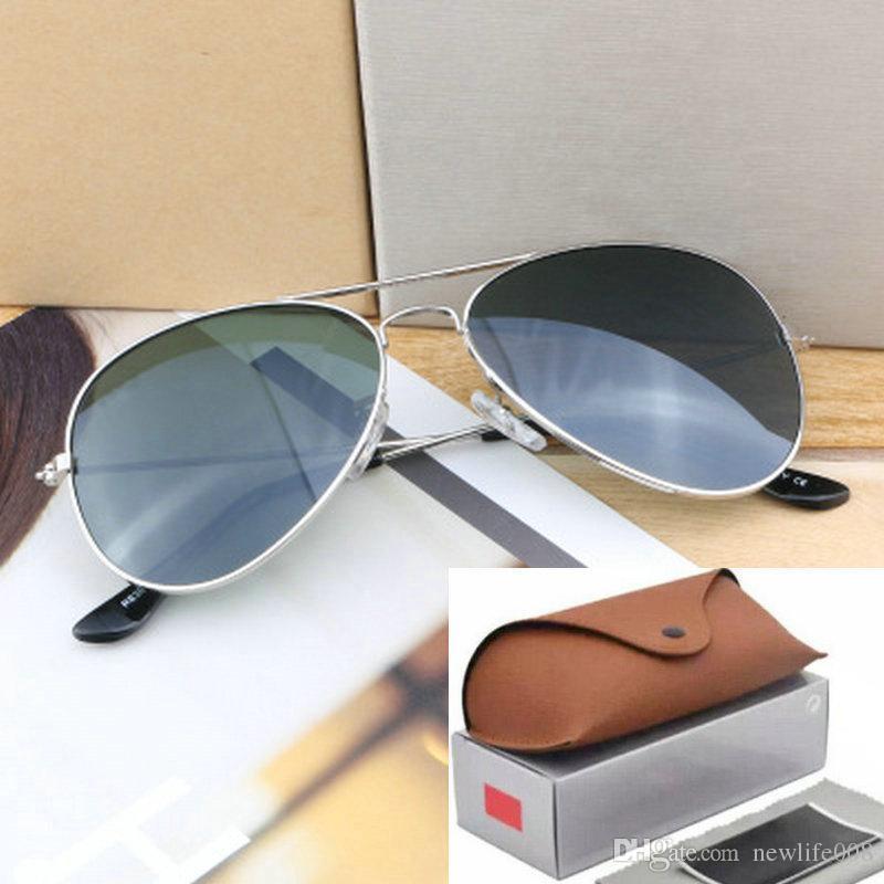 Glass Vintage Sun Women Sunglasses 62mm Lenses Sale Brand Polarized Glasses Hot Aviator Ray Bans Uv400 Pilot Men Mirror 58mm OPZkXiuT