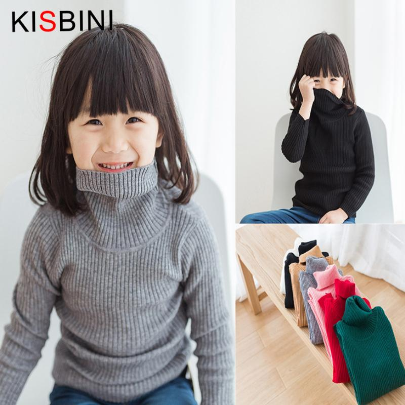 good quality Baby Girls Sweater Turtleneck Autumn New Knitted Gilr Pullover  Long Sleeve Winter Sweater 2-5 Years Kids Clothing