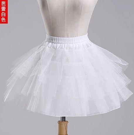 2018 New Children Petticoats 3 Layers Hoopless Short Flower Girl Dress Crinoline for Wedding Little Girls/Kids/Child