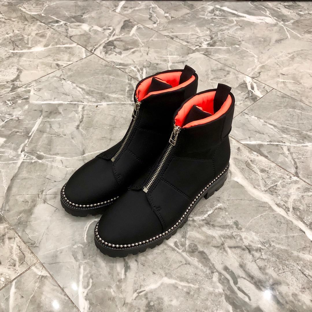 366a4bc3 Compre Marca De Lujo Británica NgKi Alex @ Señoras Botas De Cuero Con  Diseño De Costura Con Cremallera Zapato De Damas Decorativo Caja De Zapatos  De Cuero Y ...