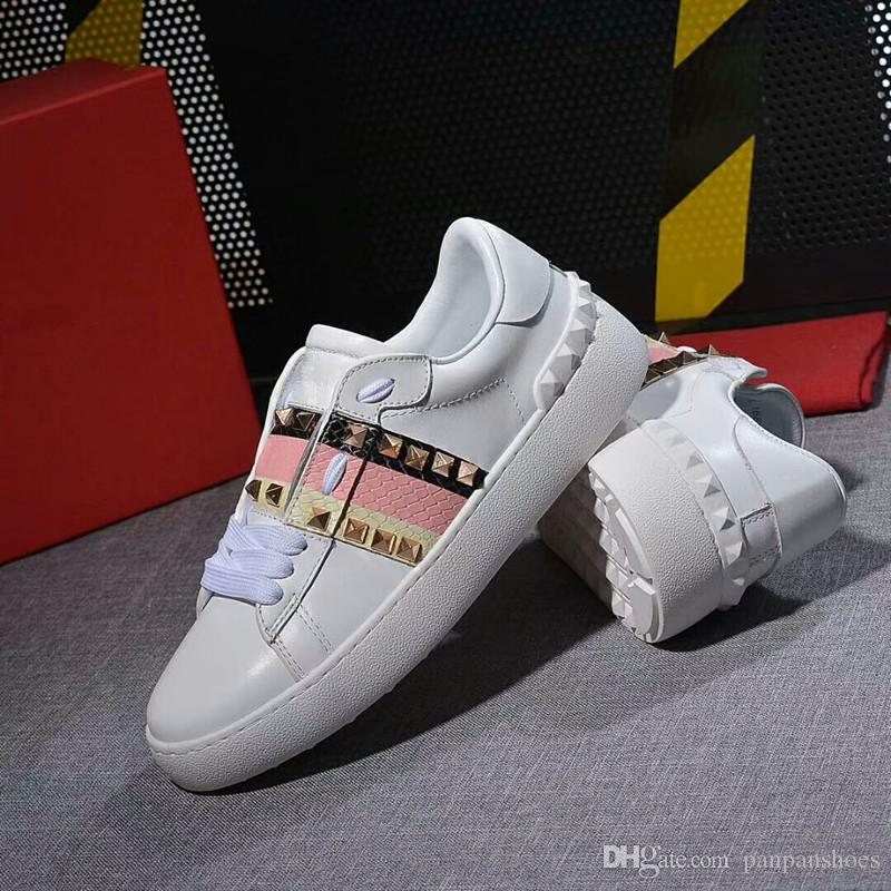 47a082304e9d High Quality Famous Brand Men Casual Shoes Black Red White High Top Genuine  Leather Men S Flats Medusa Luxury Sneakers Yl18060917 Office Shoes Running  Shoes ...