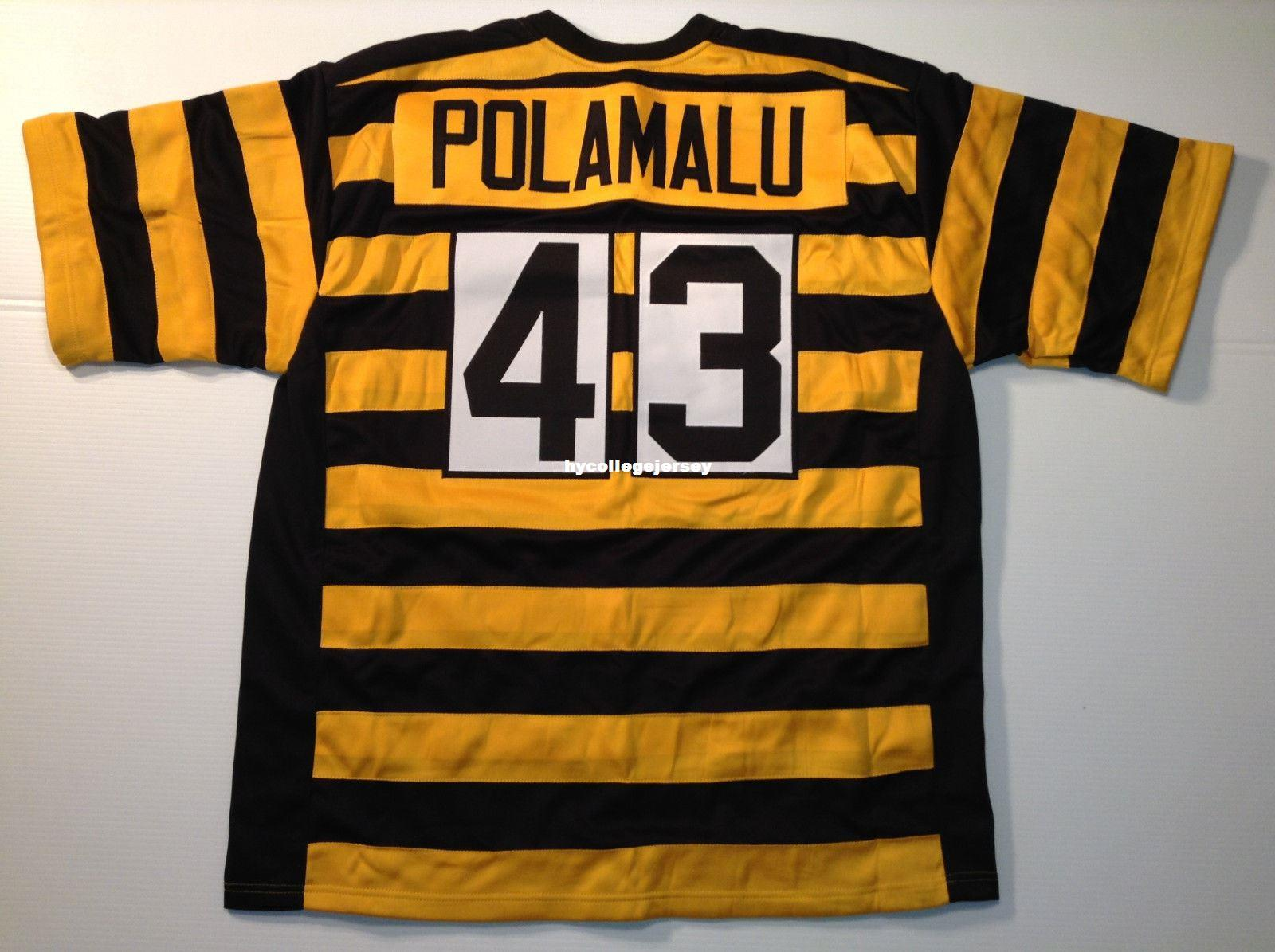 8465d7fa7 2019 Cheap Retro Custom Sewn Stitched Troy Polamalu Bumblebee MITCHELL   NESS  Jersey High End Men S Football Jerseys College NCAA From Hycollegejersey