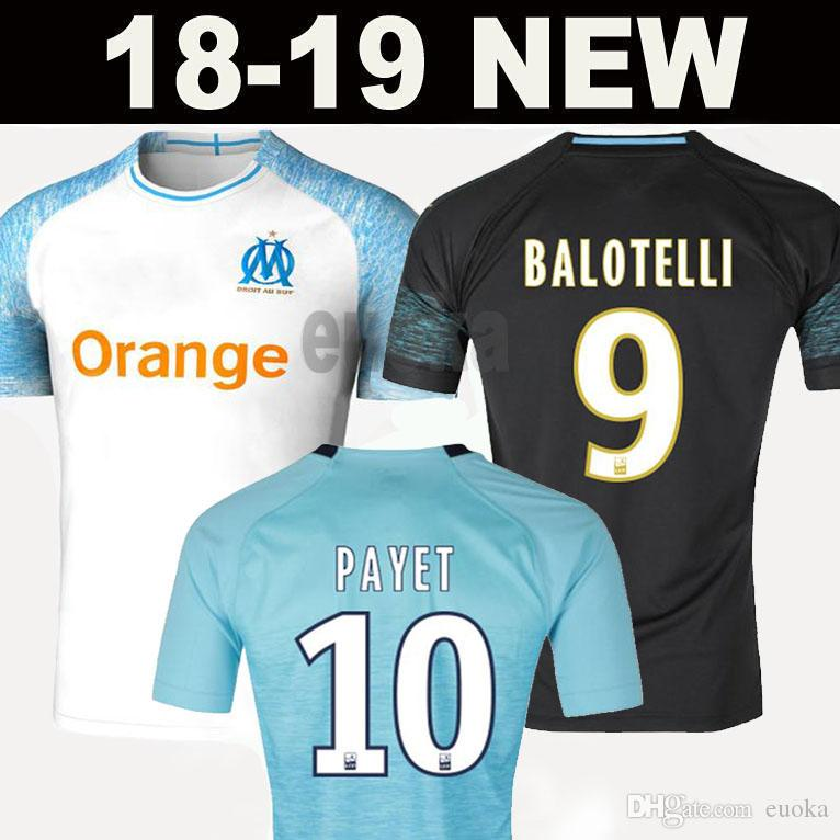 995a56fba 2019 2018 Olympique De Marseille BALOTELLI Soccer Jerseys 2019 Maillot De  Foot PAYET L.GUSTAVO THAUVIN 18 19 OM Home White Third Football Shirts From  Euoka