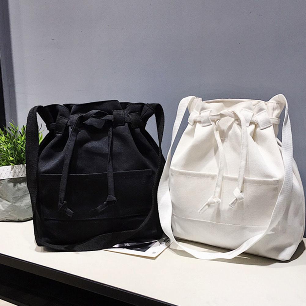 409a3279f123 Women Summer Bucket Bag Drawstring Small Messenger Casual Canvas Crossbody  Bags good quality
