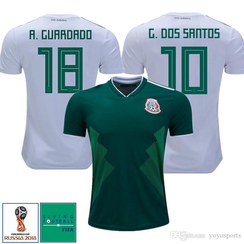 d425e4c67 2019 World Cup 2018 Mexico Home Away Soccer Jerseys Chicharito Carlos Vela  Futbol Camisa Football Camisetas Shirt Kit Maillot From Yoyosports