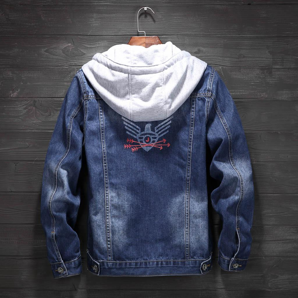 d47a830308 Mens Denim Jean Jacket Men Denim Jackets Pockets Pullover Long Sleeve  Hooded Tops Blouse Outwear Jeans Jacket Men Winter  g8 Hooded Jacket Tweed  Jackets ...