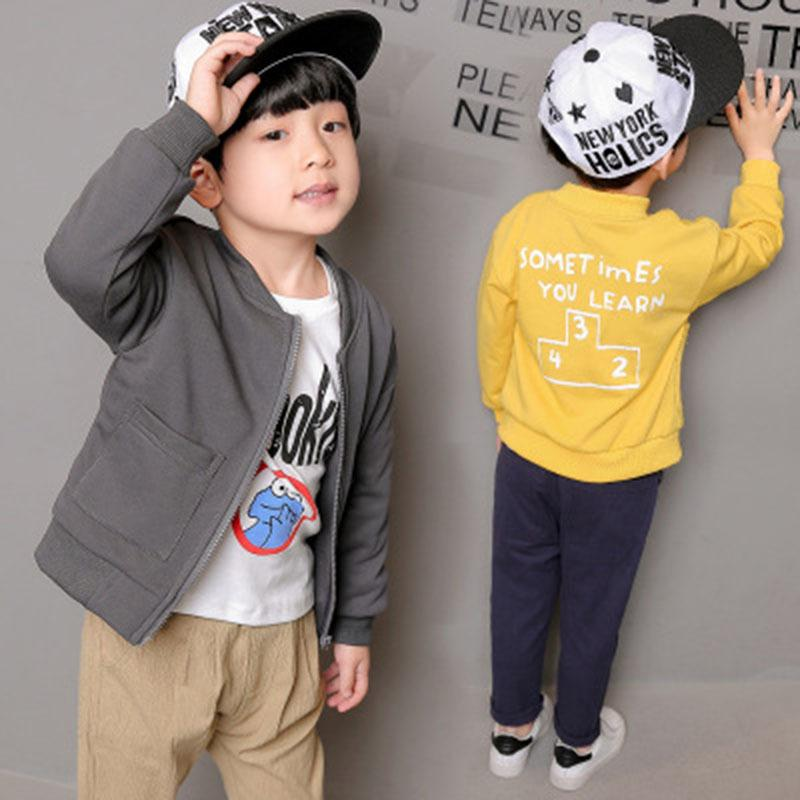 European Style Windbreaker Boys Jackets Boys Coats Spring Autumn Children Clothes Solid Fashion Kids Clothing New Baby Boy Coats