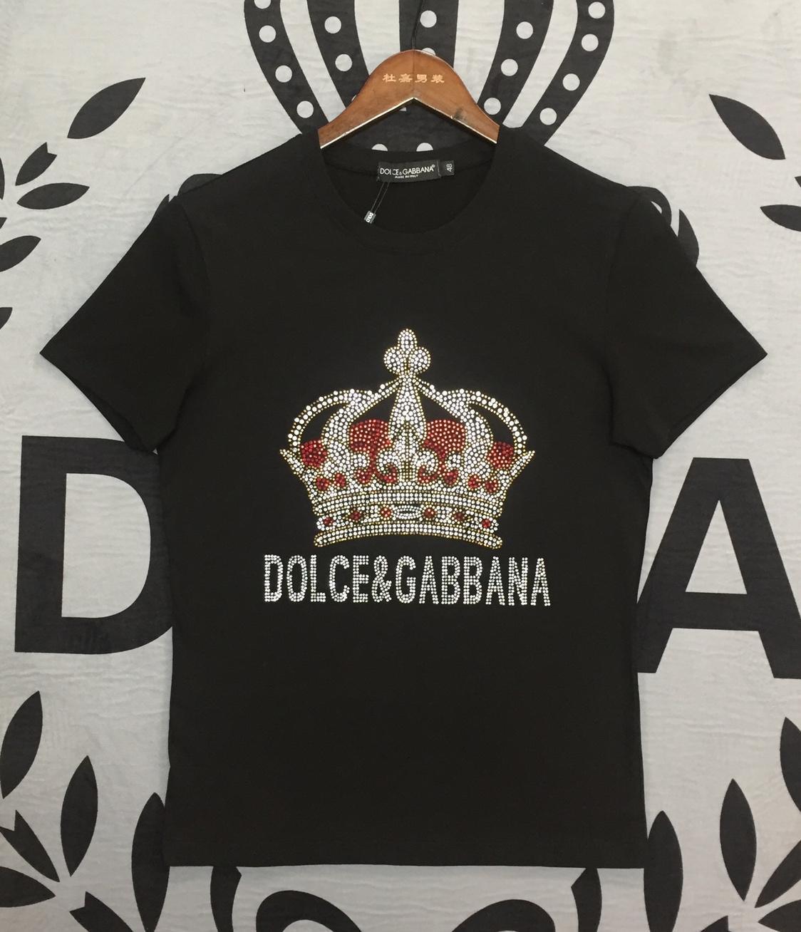 magasin d'usine 7a32f 63b9a DG kanye west marque dolce gabbana de haute qualité pur coton t-shirt  hommes femmes kanye west été t-shirt pour hommes t-shirts Polos
