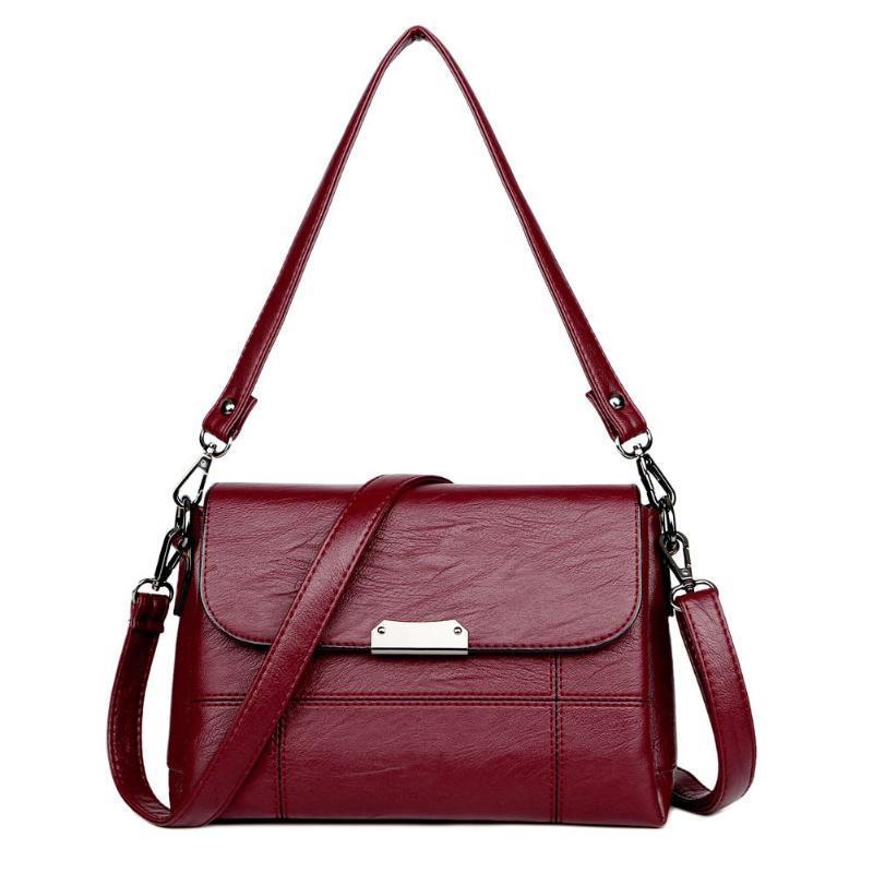 Fashion Ladies Crossbody Bag And Purse Vintage PU Leather Handbags ... f2d484a12f7df