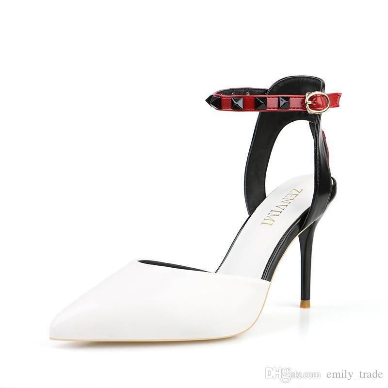 competitive price 3a32c d1379 Summer Women Glitter Tacchi alti estremi Sandali neri bianchi Lady Sexy  Party Scarpe con tacchi Fetish Sandali femminili