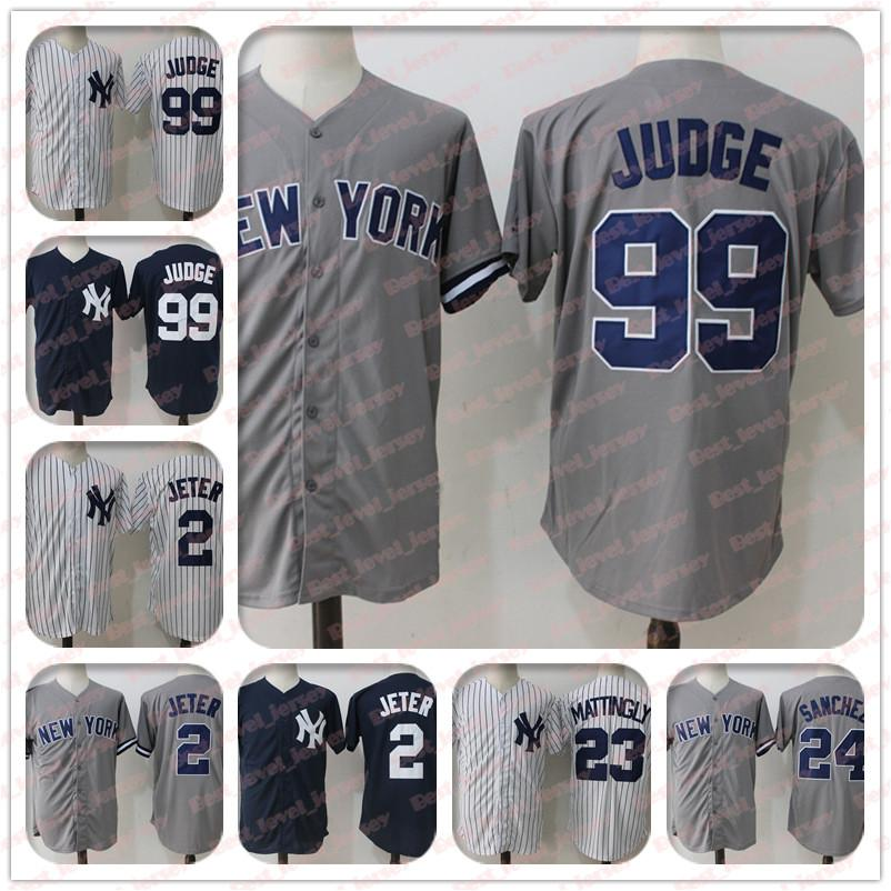 new product d02d2 db832 99 Aaron Judge Jersey 2 Derek Jeter 3 Babe Ruth 23 Don Mattingly 24 Gary  Sanchez New York jersey Yankees Coolbase hot sale