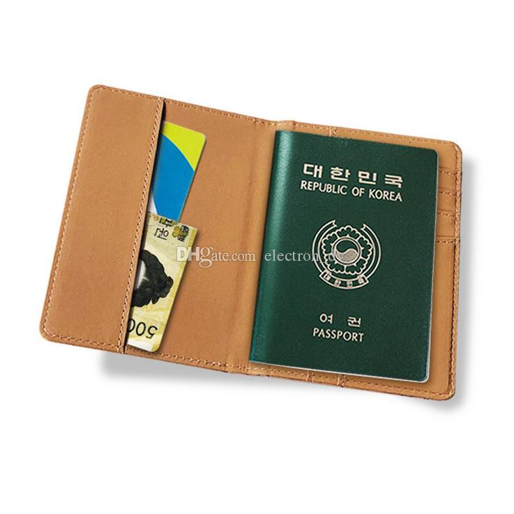 Map PU passport bag travel document folder creative holding portable passport set document bag hot sell