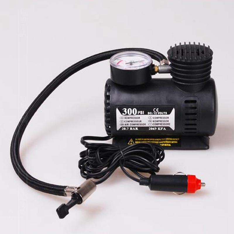 New Arrival Portable 12V Auto Electric Air Compressor Tire Inflator Pump 300 PSI for Car Motorcycle