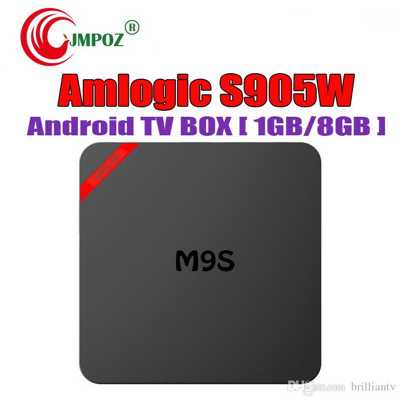 best Android TV Box Amlogic S905w M9S SE 1GB 8GB 2GB 16GB WiFi Lan 4k ultra  smart tv streaming boxes Cutsom Logo television Media Box