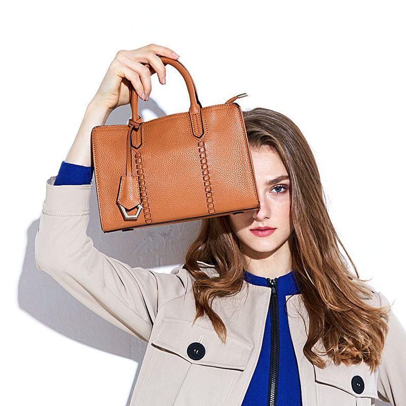 6135ad628237 Luxury 100% Real Leather Women Designer Handbags Brand Cowhide Genuine  Leather Women Shoulder Messenger Bag Elegant Tote Handbag Designer Bags  Ladies ...