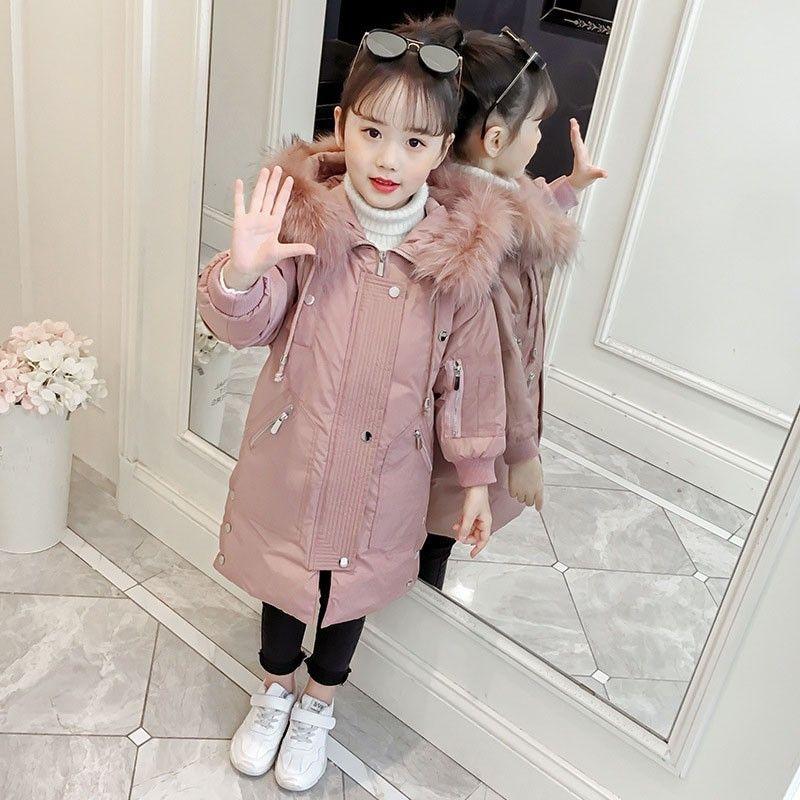 986e9067077e High Quality 2019 Russian Winter Coats Kids Long Fur Hooded Parka ...