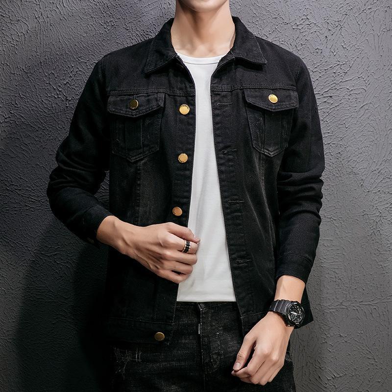 af3a49fb8 Black Men Jean Jacket Clothing Denim Jacket Fashion Mens Jeans Thin Spring  Outwear Male Cowboy Plus Size M 5XL Coats And Jackets Men Jacket Coats From  ...