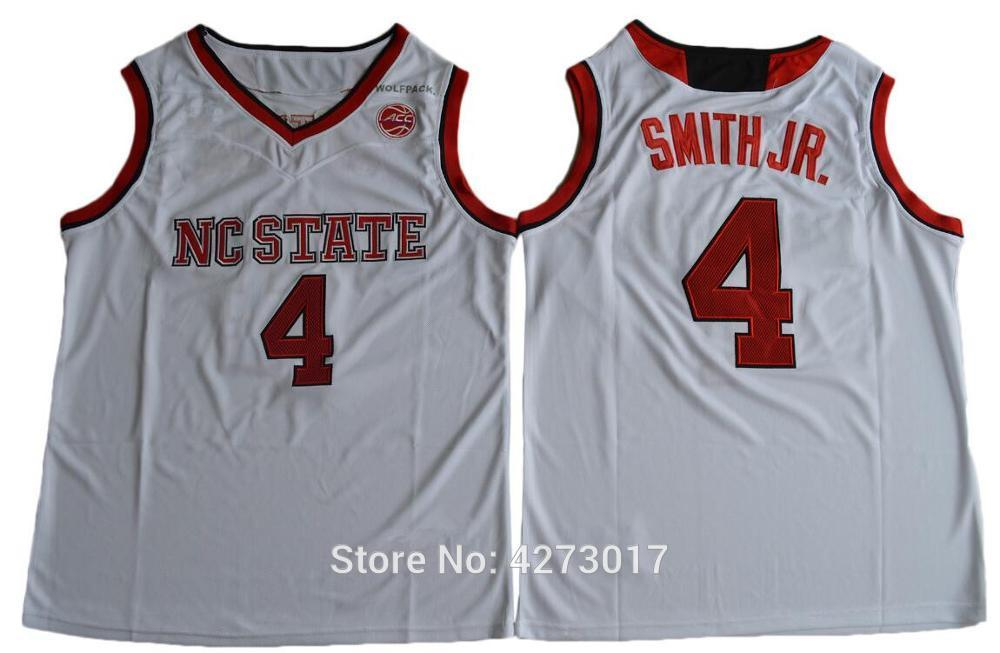 Mens Basketball 4 Dennis Smith JR. Jersey Men Red White NC State Wolfpack College Jerseys Sports Stitched Free Shipping Ncaa