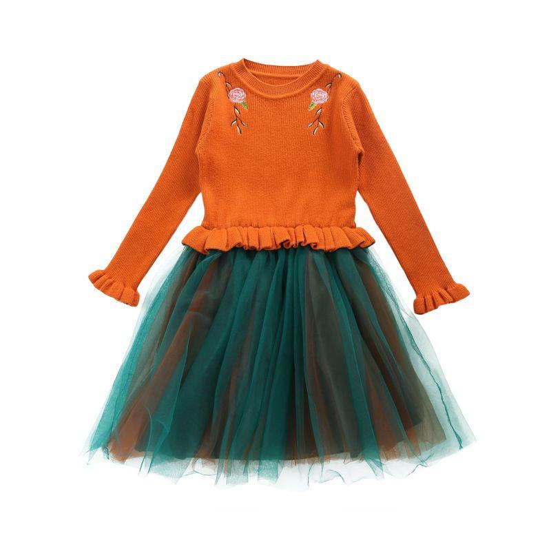 06b49678aa1f Girl Sweater Princess Dress Children Long Sleeve Knit Sweaters Kids ...