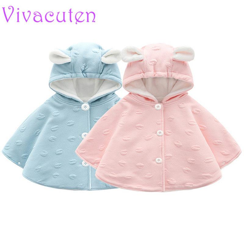 94e85888d2f2 Baby Girls Jacket Winter Girl Sweater Children Hooded Long Sleeve ...