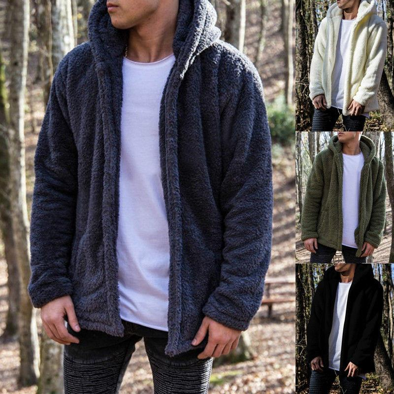 a3774501b2be Casual Mens Heavy Weight Fur Hood Jacket Parka Padded Warm Winter ...