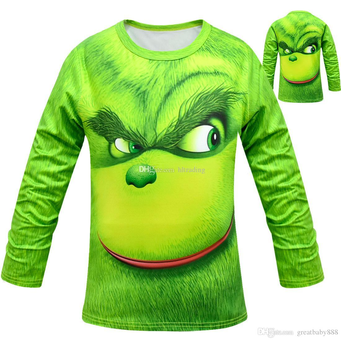 Baby Boys The Grinch Print T Shirts Spring Autumn Tops Cotton Children Tees Kids Clothing C5676 Online With