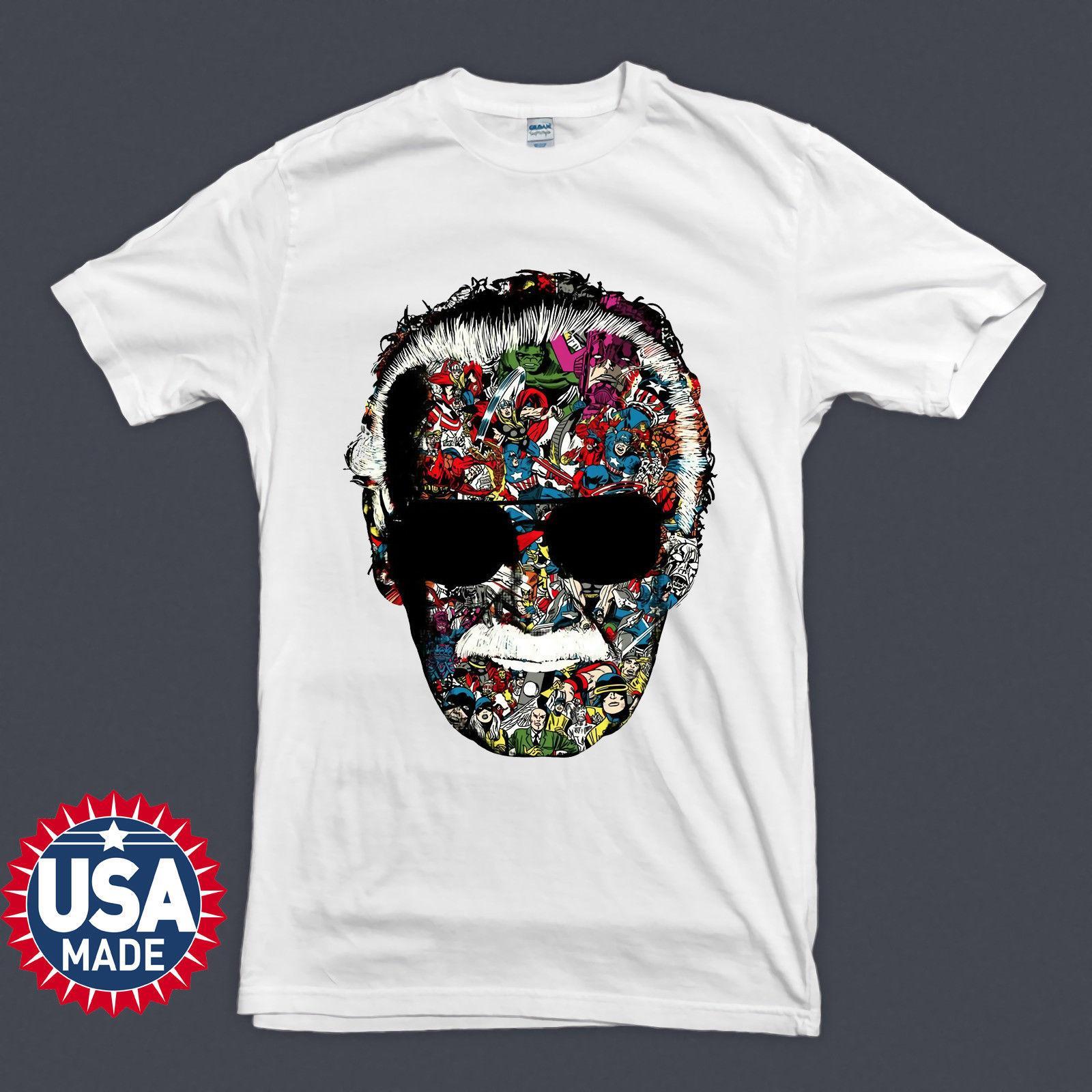 3da104e0d8 Compre Nueva Camiseta Stan Lee Head Hero Inspired Design Camiseta Para  Hombre Tamaño Discout Caliente Nueva Camiseta Hoodie Hip Hop Camiseta A   16.24 Del ...