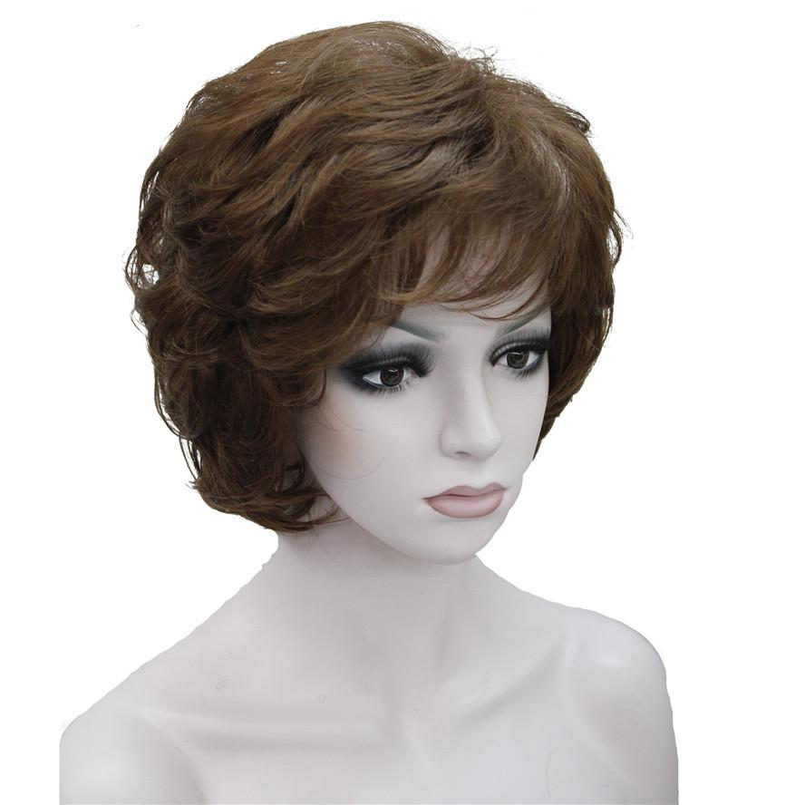 Women S Wigs Black Brown Natural Short Curly Hair Synthetic Full Wig Ladies  Wigs Ombre Synthetic Wigs From Lili614 4012f6e96