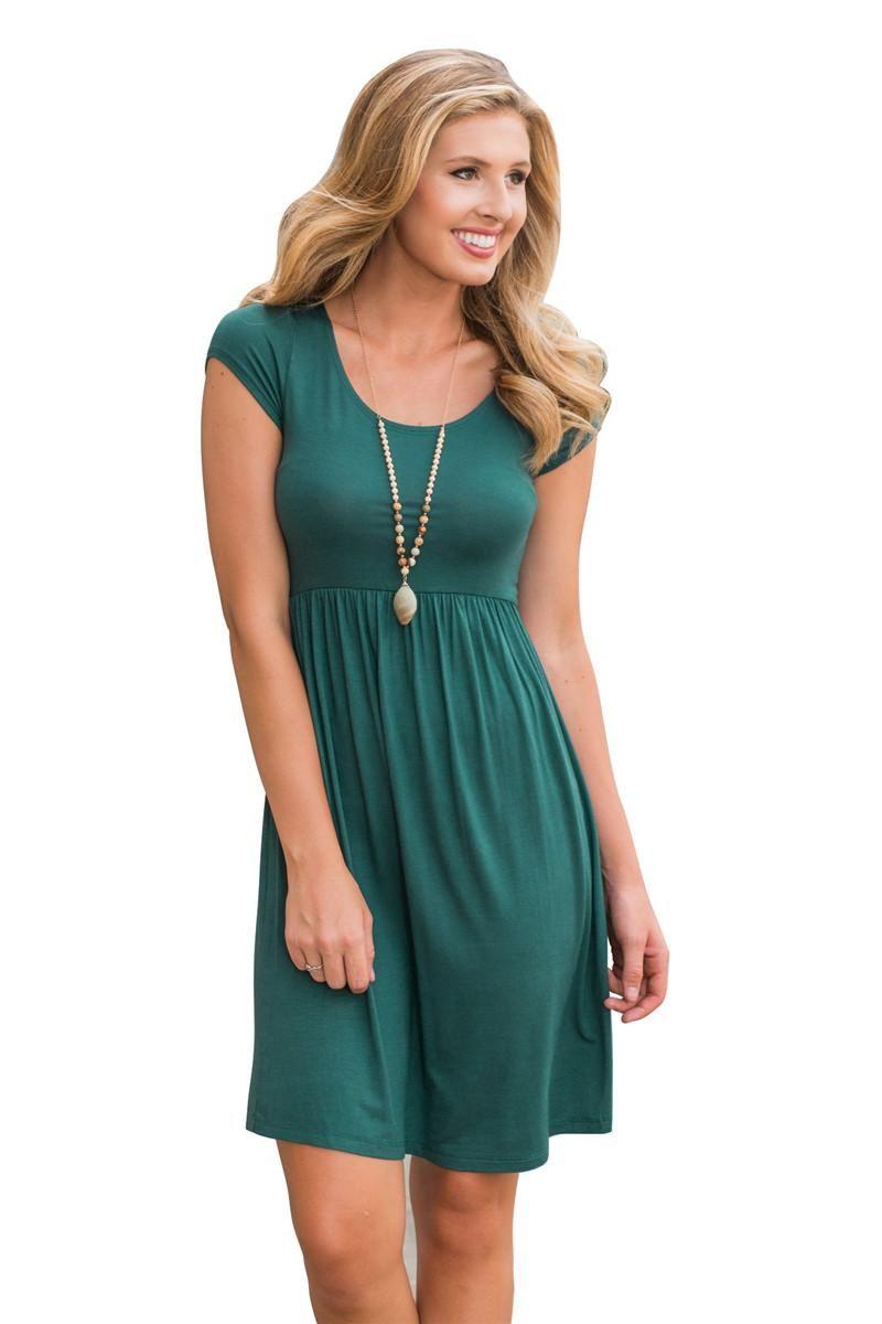 2017 Summer Women Everyday Casual Dress Fashion Short Sleeve Dresses