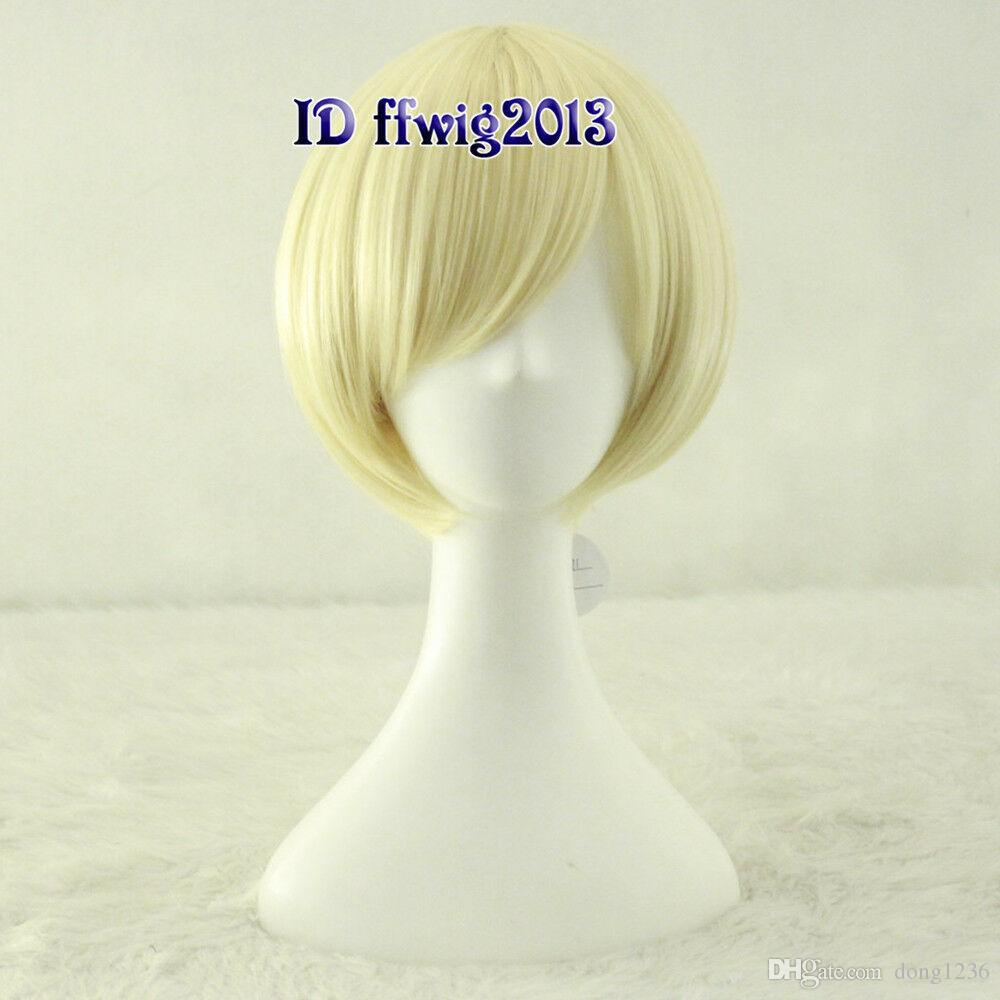 Rose Lalonde courte perruque Cosplay Blonde Blonde Anime CC91 + un bonnet de perruque