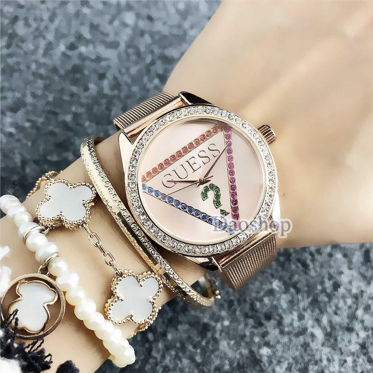 0acd14aec583 Compre Venta Caliente Mujeres De Lujo Vestido De Diamante Marca De Acero  Pulsera De Malla Banda Reloj De Pulsera Moda GU Casual Señoras Reloj De  Cuarzo ...
