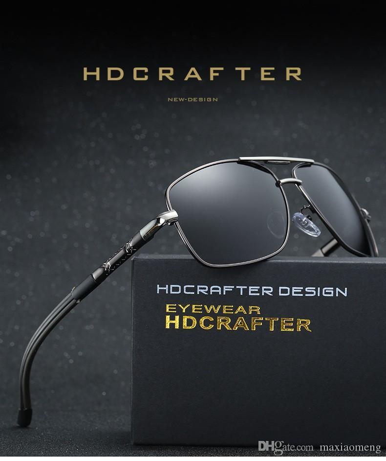 961e12fb53126 HDCRAFTER Brand Latest Design Polarized Men S Coating Sunglasses Alloy  Frame Anti Glare Driving Fishing UV400 Outdoor Sport Sun Glasses Best  Sunglasses For ...