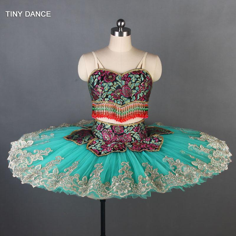 5aeca10622 2019 2 In 1 Customized Professional Ballerina Dance Costume Set Short Cut  Unique Bra Top & 10 Layers Pleated Tulle Tutu Skirt B19009 From Bigseaa, ...