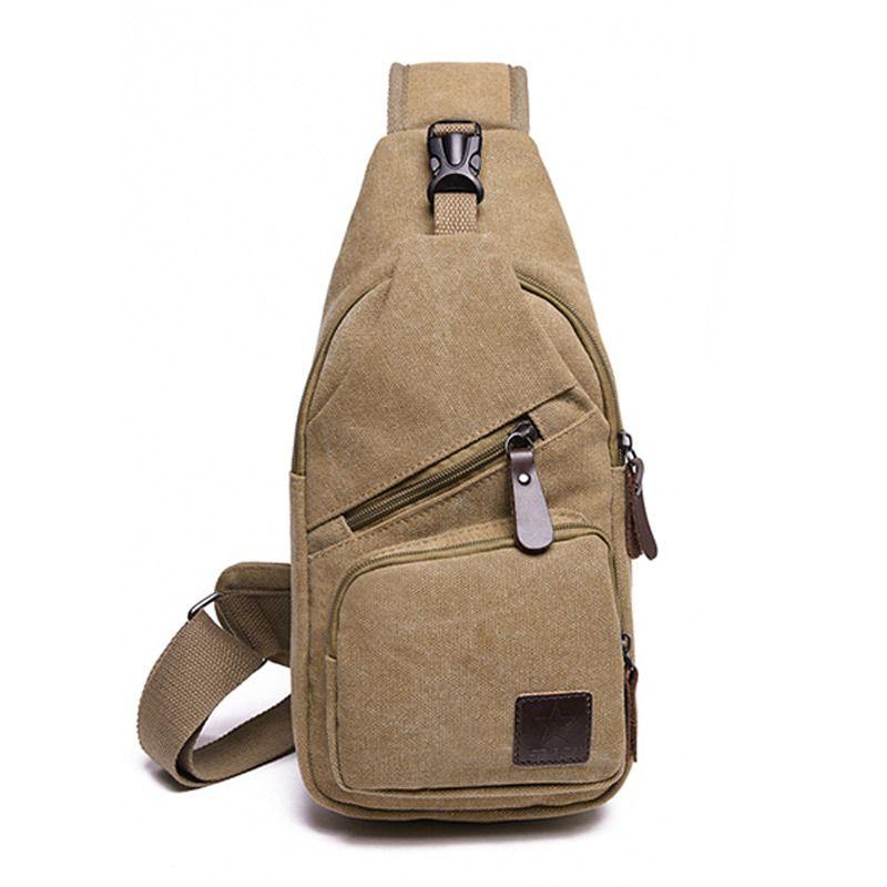 cae4411edc New Sling Bag Canvas Chest Pack Men Messenger Bags Casual Travel Fanny Flap  Male Small Retro Shoulder Bag 15 6 33 Cm Backpacks For Girls Messenger Bags  For ...