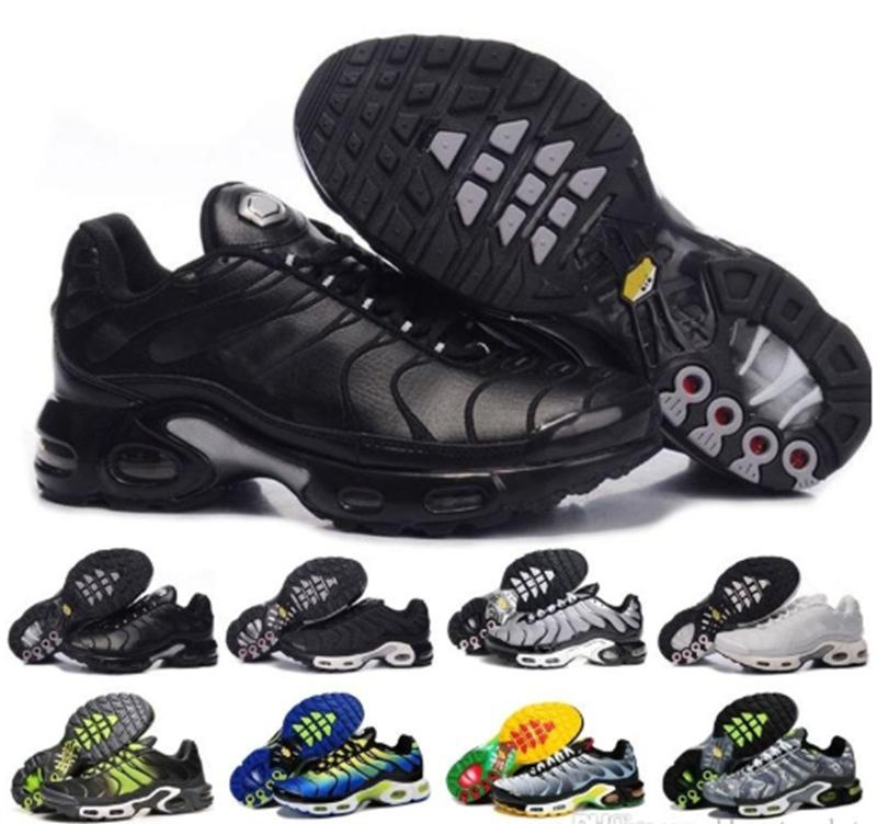 new product 74497 3c01b Compre 2018 Nike Air Max Sneaker New Original Plus Tn Men Casual Shoes  Olive En Metallic White Silver Para Tn Off Black Air Basket Requin  Chaussures40 45 A ...