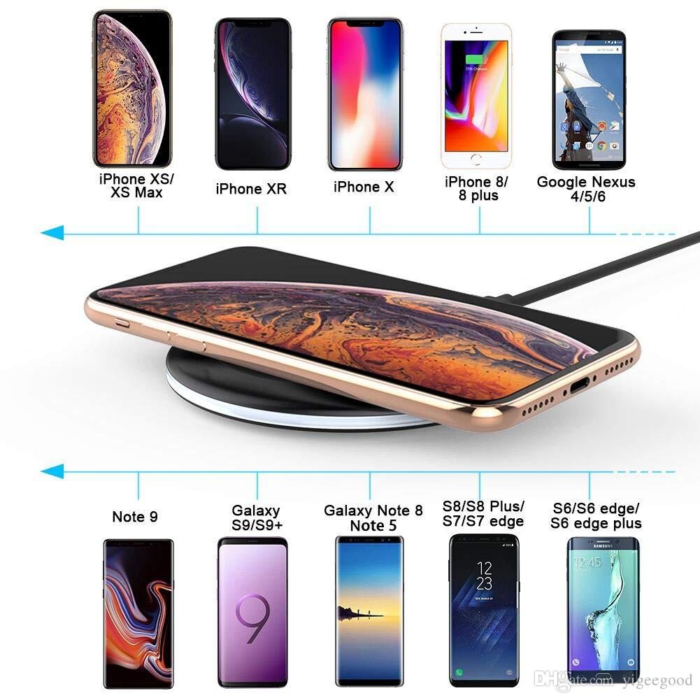 pretty nice b0bec 4f2a3 Wireless Charger Qi-Certified 7.5W Wireless Charging Compatible with  iPhones Xs MAX XR