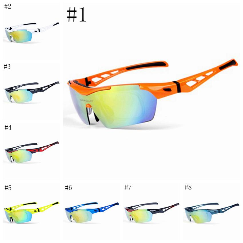 Mens Womens Polarized Cycling Sunglasses Outdoor Sports Bicycle Eyewear Bike Windproof Ski Goggles 8 colors LJJZ369