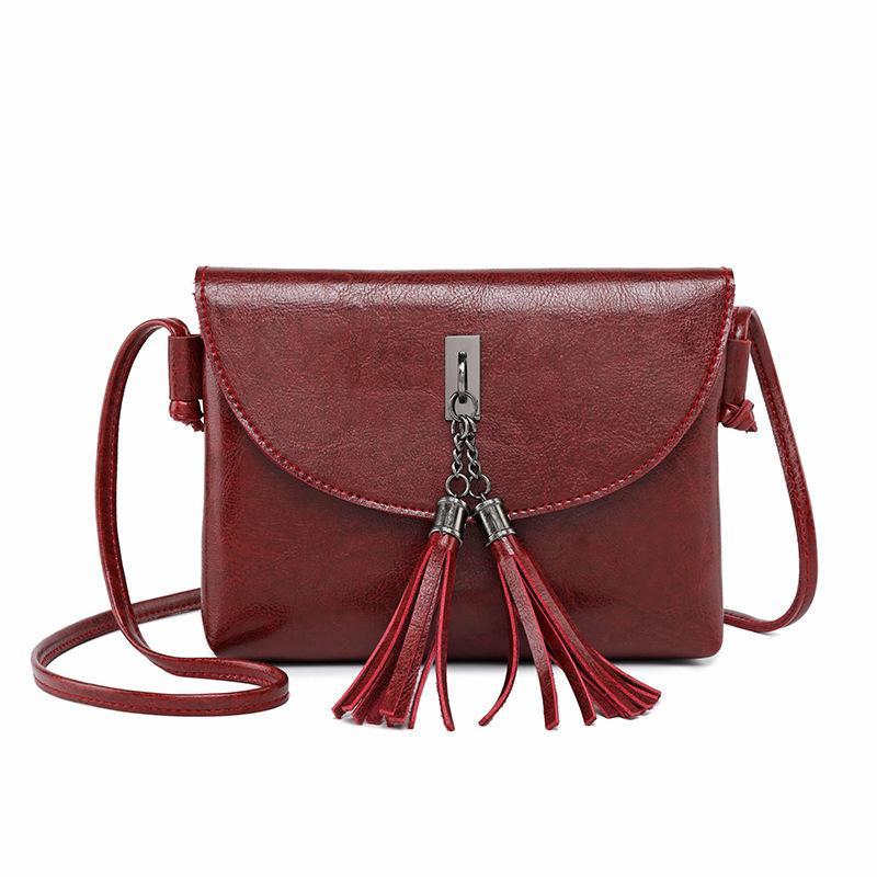 949c383e759f Fashion Crossbody Bags For Women Tassel Flap Small Bag Long Strap Leather  Messenger Bags Female Designer Purses Phone Bags