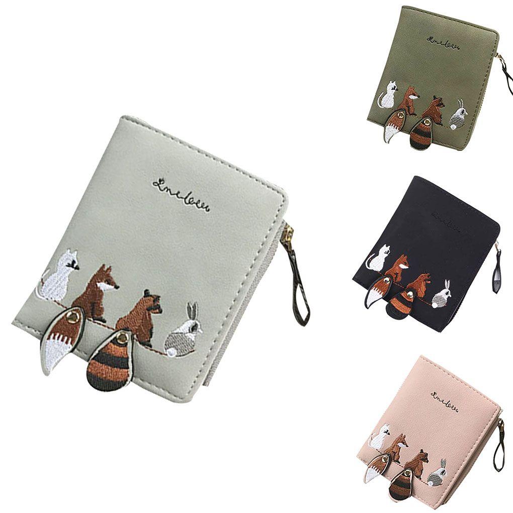 6ab7275521ae Women Cartoon Pattern Coin Purse Change Foldable Storage Bag Zipper ...