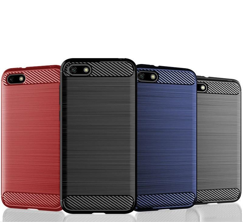 Soft Carbon Fiber TPU Case for Huawei Y5 Lite 2018 Y7 2019 Y9 Honor View 20  Shockproof Cover