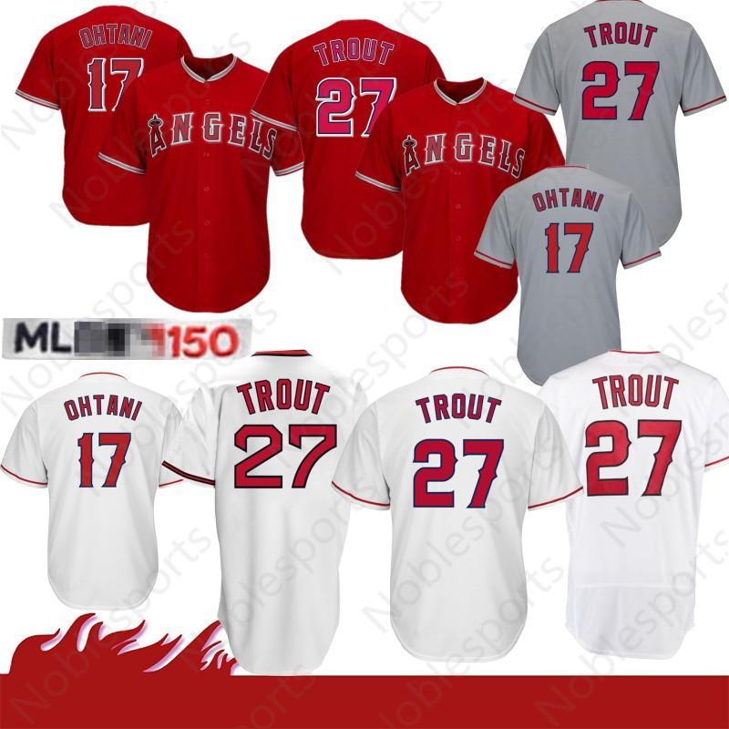 on sale 3438a 24a57 Stitched 27 Mike Trout jerseys Los Angeles # Angel jerseys Baseball Jersey  17 Shohei Ohtani coolbase jersey