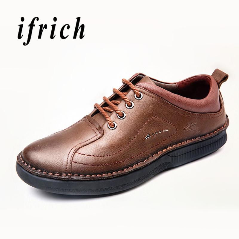 0c8d84fa12 Compre Hombres Zapatos Casuales Para Jóvenes Marrón Oscuro Hombres Negros Zapatos  Casuales De Negocios Cuero Genuino Moda Hombre Caminar Cómodo A  63.71 Del  ...