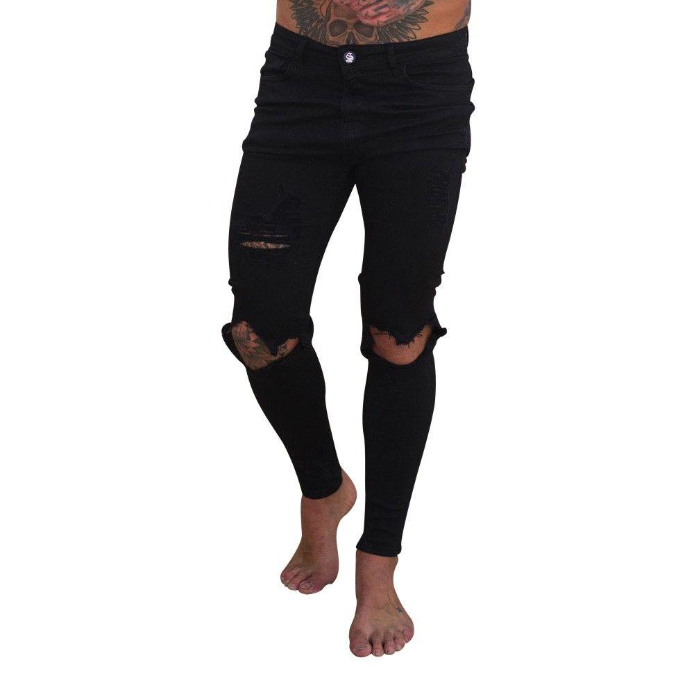 huge discount 5a7a2 d98e1 Uomo Abbigliamento 2019 Buche Pantaloni Uomo Pantaloni Uomo Slim Fit Moto  Stretch Denim Slim Zipper Jeans Pantaloni Streetwear Uomo Pantaloni