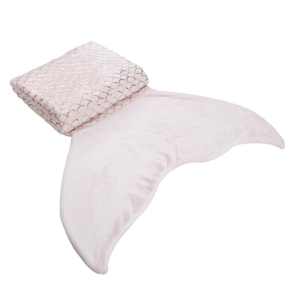 5340526ab9 LANGRIA Mermaid Tail Blanket With Glossy Foil Machine Washable Gift ...