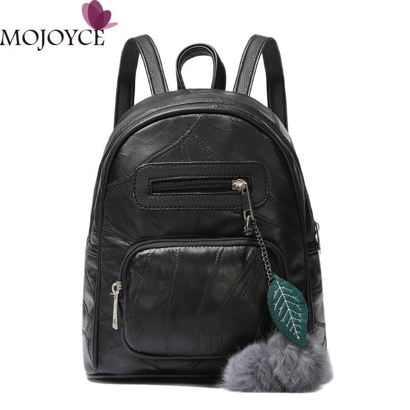 Vintage Small Women Backpack Casual Hair