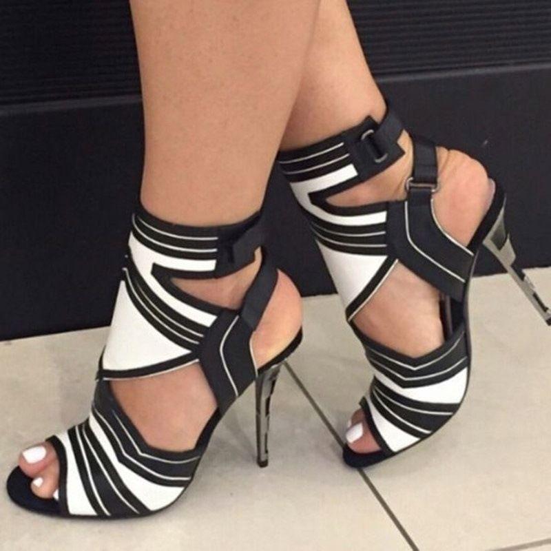 Summer High Heels Damens Gladiator Sandales Gladiator Damens Sexy Stiletto Open Toe ... 5af1ce