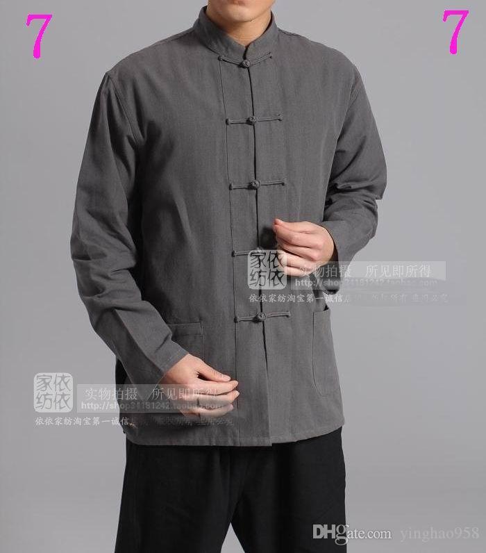 China Tang traje Cotton shadowboxing masculino / kung fu camisa esporte # 1-5